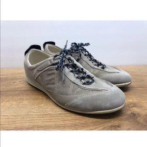 Ecco Comfort Sneakers Tennis Shoe Grey Sz 38 -Ao14